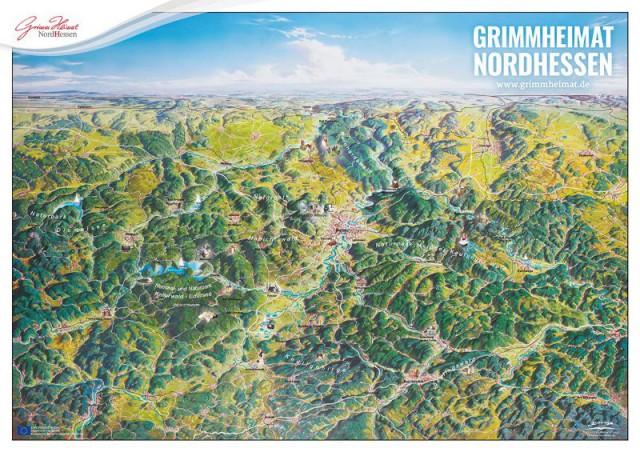 Panoramakarte Nordhessen