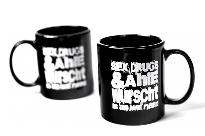 "Tasse ""Sex, Drugs & Ahle Wurscht"""