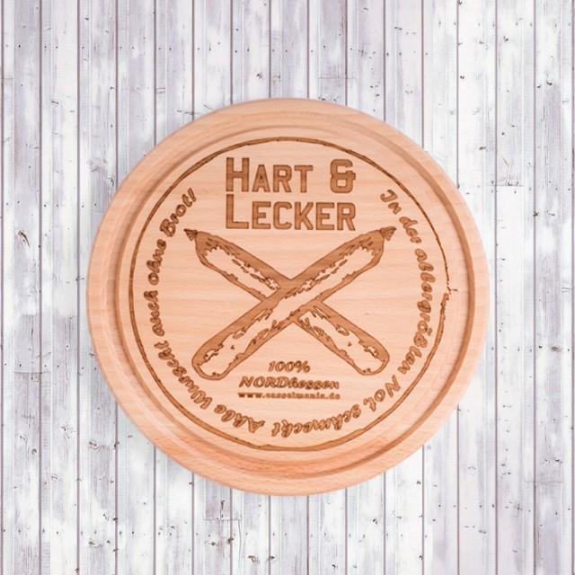 """Brettchen """"Hart & Lecker"""""""