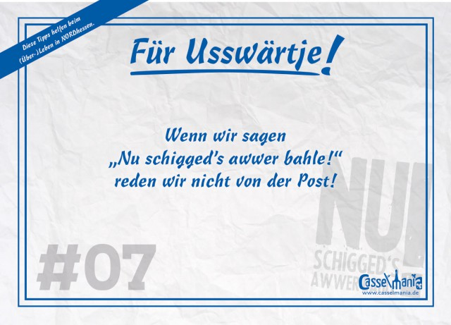 Postkarte für Usswärtje #7