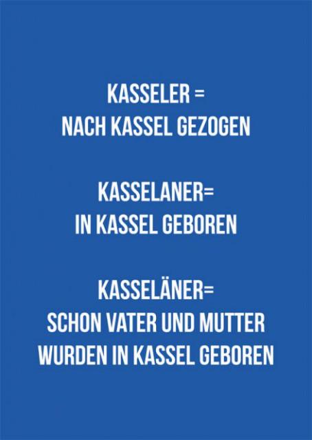 "Postkarte ""Kasseler, Kasselaner, Kasseläner"""