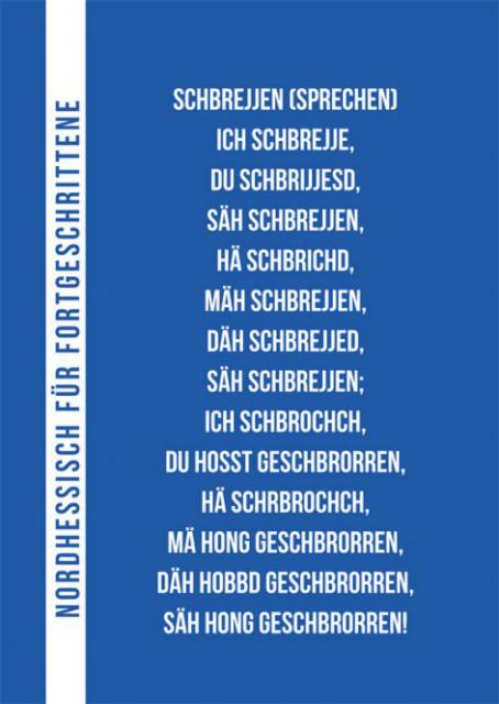 """Postkarte """"Nordhessisch für Fortgeschrittene: Sprechen"""""""