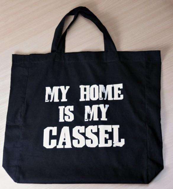 """Einkaufstasche """"My home is my Cassel"""""""